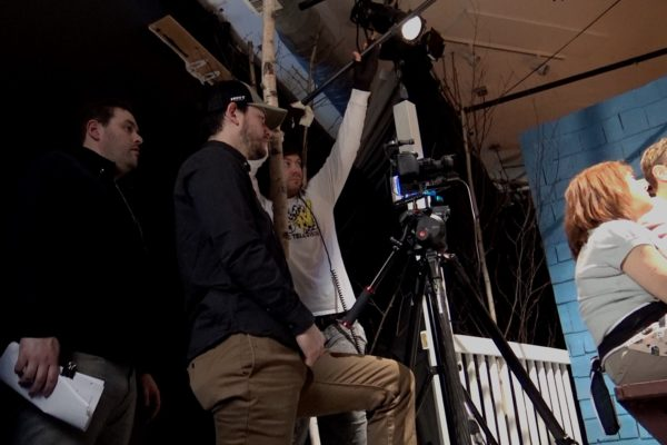 CJ Lewis, Asst. Dir.; Chad Cordner, DP; Myles Burr, Boom Mic